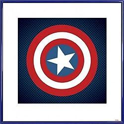 1art1® Capitán América Póster Impresión Artística con Marco (Plástico) - Escudo, Avengers Assemble (40 x 40cm)