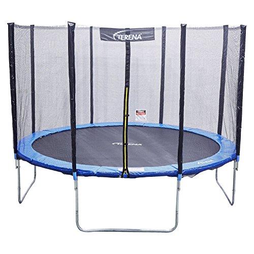 Terena Trampolin blau 183 244 305 366 427cm mit Netz Sicherheitsnetz Gartentrampolin für Kinder (183 cm)