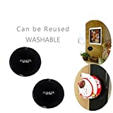 #9: KECKTUS Cell Phone Pads,Sticky Anti-Slip GEL Pads,can Stick to Glass, Mirrors, Whiteboards, Metal, Kitchen Cabinets or Tile, Car GPS and many more ( 2 PACK)