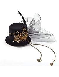 Steampunk Getriebe Bow Federn Hut Spitze Haar Clip Punk-gotische Kopfbedeckungen