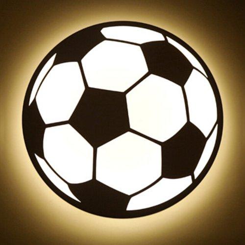 Vinteen Moderne Simple Mur Lumières Mur Lampe Nouveau Dessin Animé Football LED Acrylique Enfants Chambre Chambre Chevet Éclairage Applique Murale