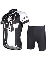 Hommes en vélo en jersey de cyclisme en coton avec shorts Polyester Résistant aux rayons ultraviolets Quick Dry Respirant Tight Short Sleeve Tops Pantalon Costume pour été Printemps Automne