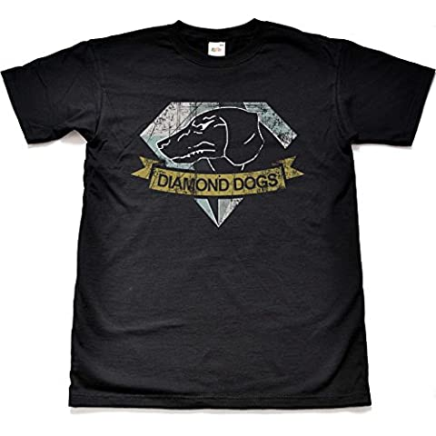 Teamzad Distressed Diamond Dogs Camiseta para hombre