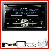 Pioneer FH-X730BT USB Bluetooth Einbauset für Golf 5 6 Passat 3C CC B7 Touran