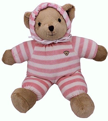 TEDDY HOUSE Teddybär Bär kuschlig und anschmiegsam Hoody Bär in rosa 33 cm 13