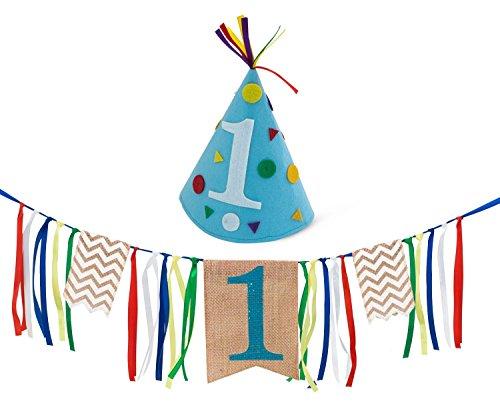 ein erster Geburtstag Junge Party Set, 1 Jahr alt, Kindergeburtstag Girlande (1 Jahr Alt Geburtstag Ideen)