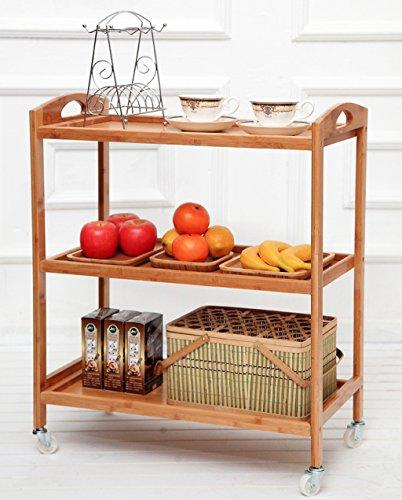 &étagère de rangement Rangement de cuisine Rack étagère à 3 niveaux Rayonnage à usages multiples Chariot de rangement pour chariots à roulettes Rack de finition (Color : 3 layers)