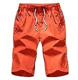 YuanDian Homme été Droit Plage Short Unita Taille Elastique Cordon De Serrage Court Maillot Short De Bain Boardshort Surf Bermuda