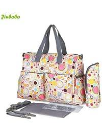 Baby Diaper Bags Mother Bag Shoulder Bag Fashion Maternity Bag Baby Carry Bag Waterproof 5 Pcs / SET - B0786824YR