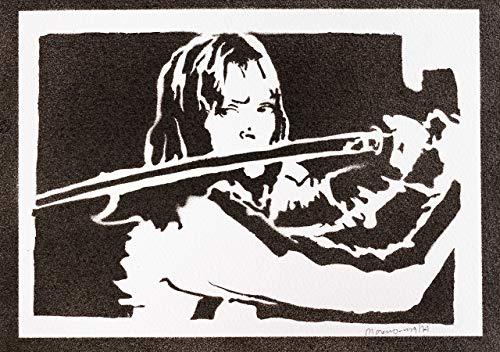 Pussy Kostüm - Kill Bill Beatrix Kiddo Poster Plakat Handmade Graffiti Street Art - Artwork