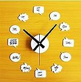 Axiba Decorazione di camera da letto soggiorno di graffiti scritti a mano diy orologio orologio 30-60cm Regali creativi