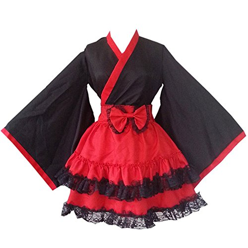Vestido de Albornoz Kimono de Estilo japonés Anime Cosplay Yukata Series Verano de Japón Chicas Lindas Cosplay de Anime Disfraces (M)