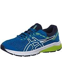 Asics Gt-1000 7 GS, Zapatillas de Running Unisex Niños, Azul (Racer Blue/Neon Lime 402), 37 EU
