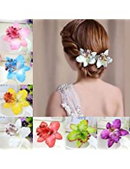 2 X Braut Hochzeit Orchidee Blume Haarspange Haarspange Frauen Mädchen Zubeh  xl