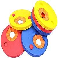Cuitan Manguitos de natación para niños, Varios Colores Discos Flotantes, Hechos de Espuma, 6 Piezas
