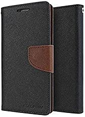 ARD Accessories Stylish Luxury Mercury Magnetic Lock Diary Wallet Style Flip Cover Case for Samsung Galaxy A7-17 / A72017 / A7 New 2017 Edition Black&Brown