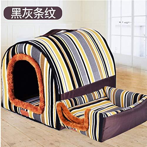 Donad Hundebetten für kleine, mittelgroße Haustiere Winddicht Warme, weiche Reise Wesentliche Hunde Kistenbett Katzenkissen Zwingerfutter Pad -