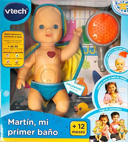 VTech Martín mi Primer baño, muñeco para la bañera, 33Cm (197422)
