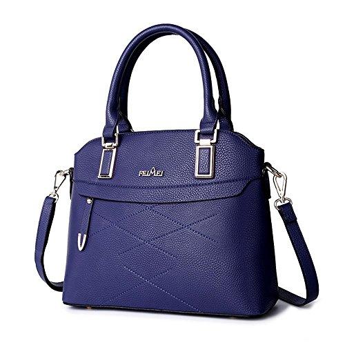 Borsa a tracolla delle ragazze, sacchetto grande, zaino semplice minimalista di modo coreano, borsa universitaria ( Colore : Grigio ) Blu zaffiro