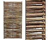 bambus-discount.com Haselnuss Zaun mit 115 x 180cm Modell Sommer - Sichtschutzzaun