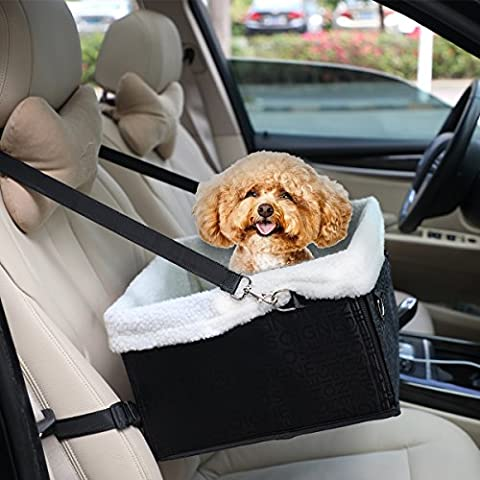 Hmcity Foldable Pet Dog Cat Car Booster Seat Bag Carrier