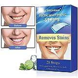 Strisce Sbiancanti,Teeth Whitening Strips,Strisce di Sbiancamento Dei Denti,Rimuove le Macchie Dentali,Kit per Sbiancamento Denti-28pcs per 14 Pairs, sufficienti per 2 settimane