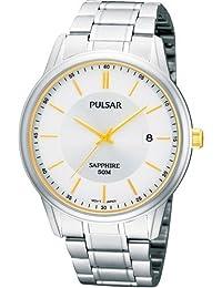 Pulsar Uhren PS9053X1 - Reloj analógico para caballero de acero inoxidable blanco
