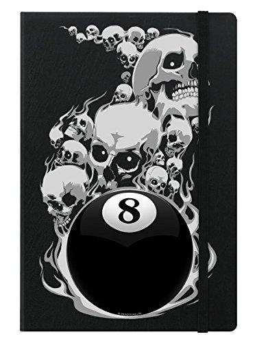 A5 Notizbuch Hardcover Voodoo 8 Ball 14 x 21 cm schwarz