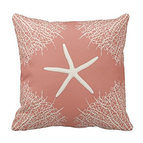 Generic Decorative Throw Pillowcase Cushion Cover With Seastar And Coral