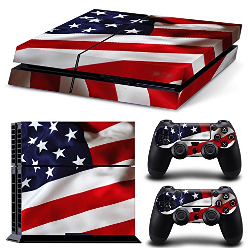 Morbuy Ps4 Skin Consola Design Foils Vinyl Pegatina Sticker And 2 Playstation 4 Dualshock Controlador Skins Set (USA)