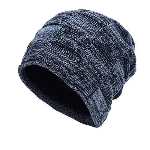 Nosterappou Bonnet Unisexe Simple et élégant, Bonnet épais et Chaud, Bonnet élastique, d'équitation, de Sport, de Course à Pied et Respirant (MODÈLE : F3)