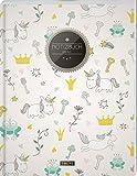 """TULPE Blanko Notizbuch A4 """"C114 Witzige Einhörner"""" (140+ Seiten, Vintage Softcover, Seitenzahlen, Register, Weißes Papier - Dickes Notizheft, Skizzenbuch, Zeichenbuch, Blankobuch, Sketchbook)"""