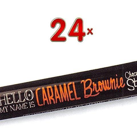 Lindt Hello Stick Caramel Brownie 24 x 40g Packung (gefüllte Vollmilchschokolade mit Karamell und Brownie-Creme und dunklen (Karamel Schokolade Brownie)