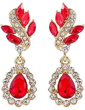 Clearine Damen Bohemien Boho Fashion Kristall Cluster Blume Chandelier Dangle Ohrringe