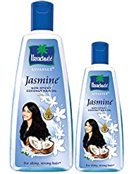 Parachute Advansed Jasmine Coconut Hair Oil, Healthy Shine, Nourishing and Non-Sticky Hair Oil, 400 ml with Free 90 ml pack
