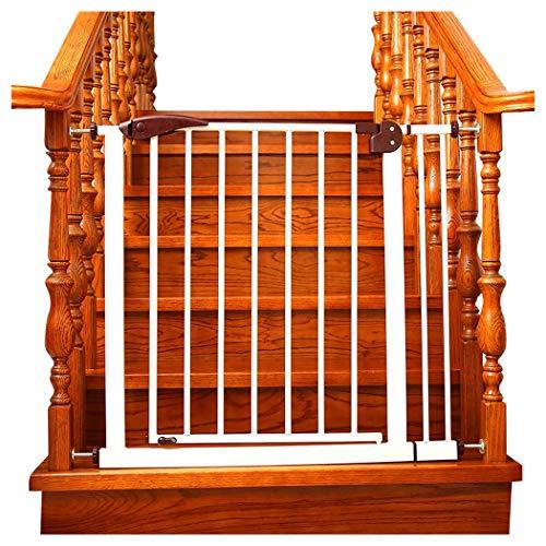 AAAGuardrail Kindersicherheitstürstange Frei Lochende Treppe Zaun Baby Baby Treppengeländer Küche Schoßhund Leitplanke (Color : Brown, Size : 111-114cm)