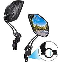 DEWEL 1 Par Espejo Retrovisor Bicicleta Ajustable 360° Rotación espejo vista posterior,Roller/Espejo