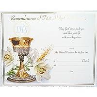 Comunione Certificato–ricordo della prima comunione.