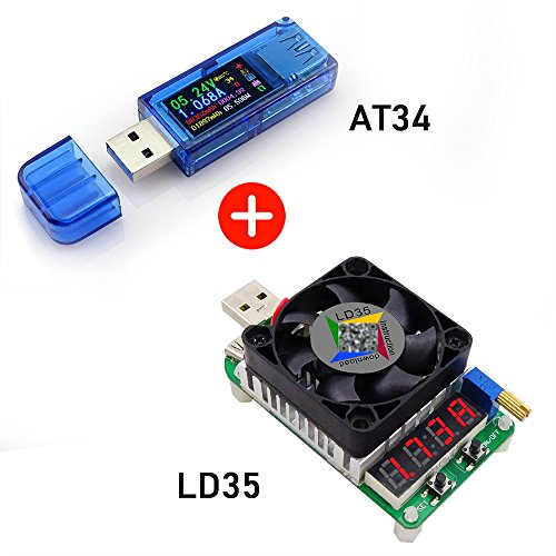 Onepeak AT34 USB 3.0 Farbe LCD Voltmeter Amperemeter Spannung Stromzähler Multimeter Akku Ladung Bank USB Tester