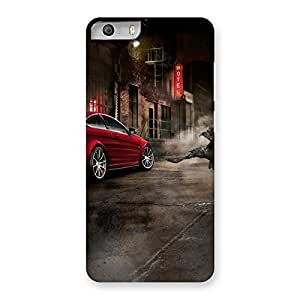 Cute Red Car Impact Multicolor Back Case Cover for Micromax Canvas Knight 2