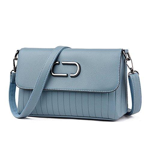 Dame Fashion Handtasche Fashion Leder Casual Fashion Einfache Großzügige Schultertasche Messenger Bag E