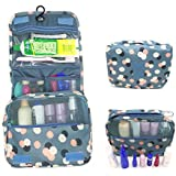 Kecuco Travel Bag Toiletry Bag Multifunction Bathroom Storage Cosmetic Bag Portable Makeup Pouch Waterproof Travel...