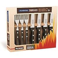 Tramontina Gaucho Steakbesteck-Set 8-teilig braun, 29899-297 Steakbesteck-Set 8-teilig braun, mit 4 Steakmessern und 4 Steakgabeln
