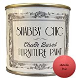 Rosso metallizzato shabby chic Chalk Based Furniture Paint Great for Creating a shabby chic Style. 125 ml