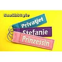 Schlüsselanhänger mit Wunschname / Name / Schlüsselband mit Wunschtext
