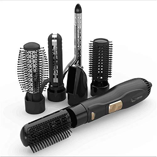 MMRLY Brosse à air Chaud, sèche-Cheveux en Une étape, défrisant pour ions négatifs 6 en 1 de Salon et Peigne Rotatif pour réduire Les frisottis et Les Charges statiques