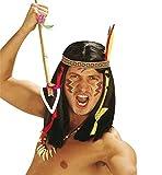 Indische Schwarze Perücke mit Buntem Band für Herren