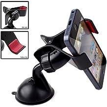 TecHERE EasyClaw360 - Soporte universal con ventosa para salpicadero del coche - Soporte de coche para el iPhone 5 5s 5c 4s, Samsung Galaxy S2 S3 S4 S5, Nexus 5, HTC, GPS y otros dispositivos de ancho de 5 a 9 cm - Giro de 360°