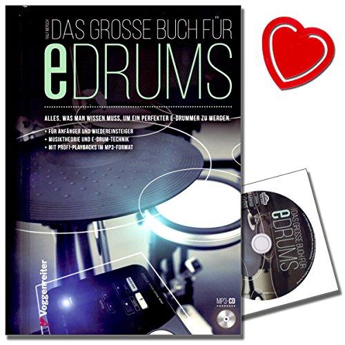 elektronisches schlagzeug fuer anfaenger Das große Buch für E-Drums / Elektronisches Schlagzeug für Anfänger (hier bleibt keine Frage offen) mit CD von Ralf Mersch - mit bunter herzförmiger Notenklammer