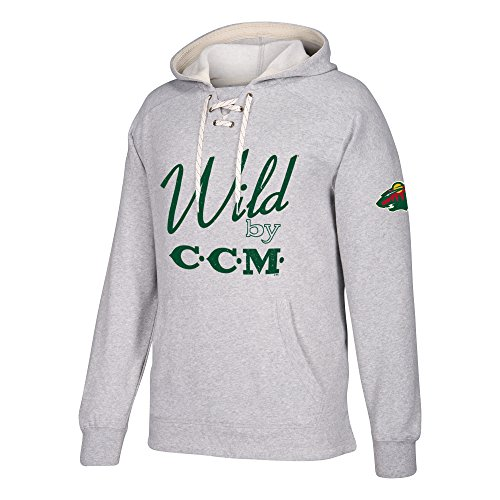 adidas NHL Minnesota Wild Centennial CCM Tacks Pullover Hockey Hood, XX-Large, Medium Grey Heathered -